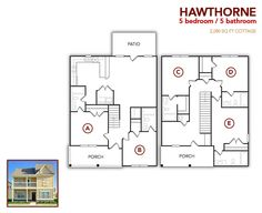 5 bedroom, 5 bath Hawthorne