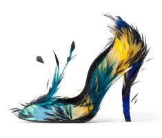 Blue Angel A/W Roger Vivier. Photograph courtesy of Roger Vivier Chaussures Roger Vivier, Roger Vivier Shoes, Crazy Shoes, Me Too Shoes, Funky Shoes, Hot Shoes, Weird Shoes, Women's Shoes, Shoes Style