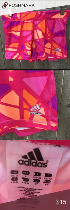 Adidas Climalite Pink Orange Tech Fit yoga Shorts Adidas Women's Climalite Red Pink Orange Tech Fit Work Out Shorts   Size Small (refer to measurements)  Good condition!  Waist laying flat: 11.5 inches  Leg Length: 8 inches  All measurements are taken with items laying flat!  If you have any questions please message me thanks!  Check out my other listings! adidas Shorts