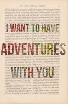 There is so much I want to experience with you, so much!
