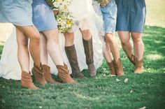 Boots for bridesmaids and bride.  Wedding Photography.  Vis Photography.
