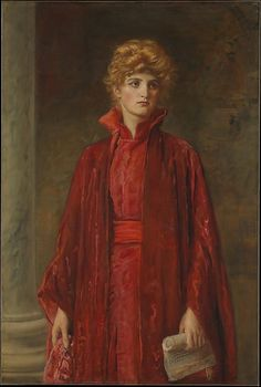 Sir John Everett Millais (English, 1829–1896). Portia (Kate Dolan), 1886. The Metropolitan Museum of Art, New York. Catharine Lorillard Wolfe Collection, Wolfe Fund, 1906 (06.1328) #halloween #costume