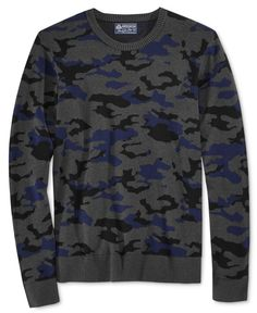 American Rag Men's Camo-Print Sweater, Only at Macy's