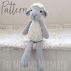Tahlia the Lamb Sheep Amigurumi Crochet Pattern PDF E-Book Easter Keepsake Toy Gift