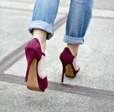 Heels and jeans #heels #high heel shoes