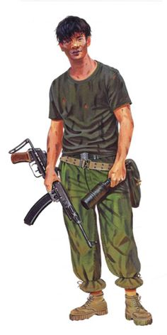 History of The Vietcong, Weapons, its Tactics and the outcome of the Vietnam War explained in the Vietnam War video documentary Vietcong Declassified Military Tactics, Military Drawings, Vietnam War Photos, North Vietnam, Military Modelling, Korean War, Guerrilla, Cold War, History Facts