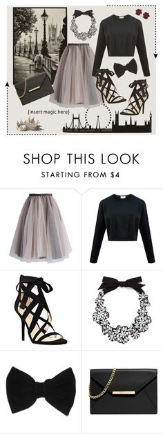 """""""If You're James Dean, I'm Audrey Hepburn"""" by princessofhearts13 ❤ liked on Polyvore featuring Chicwish, Nine West, J.Crew, claire's and MICHAEL Michael Kors"""
