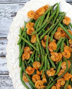 20 Minute Meal: Spicy Asian Green Beans and Shrimp from Apron Strings.