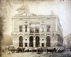 1885 construction of Arriaga theater in Bilbao