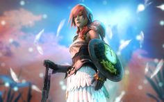 Download wallpapers Lightning, 4k, Claire Farron, Final Fantasy, Final Fantasy XIII