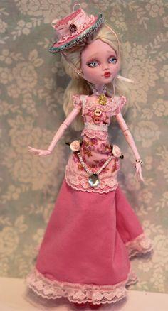 *Victorian Monster High Repaint Altered Art OOAK Doll Refabbed Pretty Girl Hat | eBay