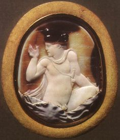 The abduction of Ganymede. Fragment of the cameo.  Sardonyx. 1st century B.C. 3.3 × 3 cm. Inv. No Ж 299. Saint-Petersburg, The State Hermitage Museum.  Origin: Acquired from the Duke of Orleans collection in 1787.