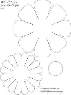 flower template how to make a 3 dimensional flower Giant Paper Flowers, Felt Flowers, Diy Flowers, Fabric Flowers, Flower Ideas, Flower Petals, Spring Flowers, Applique Patterns, Flower Patterns