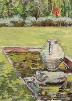 ✽   vanessa bell  -   'the goldfish pond, charleston'  -  1939  -  christie's