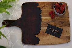 Australia Acacia Serving Board with Pitch Black and Serving Board, Acacia, Pitch, Australia, Interior Design, Handmade Gifts, Etsy, Furniture, Black