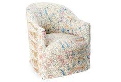 Lunette Barrel Chair, Print II on OneKingsLane.com