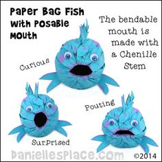 Pout-pout fish Craft - Paper Lunch Bag Fish with posable Mouth Craft from www. - Pout-pout fish Craft – Paper Lunch Bag Fish with posable Mouth Craft from www. The Rainbow Fish, Ocean Activities, Kids Learning Activities, Ocean Crafts, Fish Crafts, Preschool Crafts, Crafts For Kids, Pout Pout Fish, Under The Sea Crafts