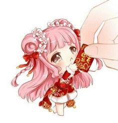 chibi chinese lucky envelope girl!