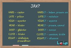 hard i hardly) - Loip Angielski Online English Tips, English Study, English Class, English Lessons, English Grammar Tenses, English Vocabulary, Learn English Words, English Phrases, Education English