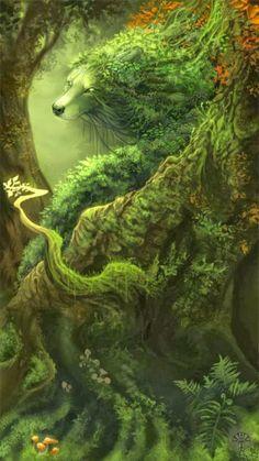 Natureza e animais fantásticos nas ilustrações de fantasia de Alector Fencer