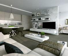 white modern studio design