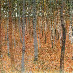 Gustav Klimt - Beech Forest 1902