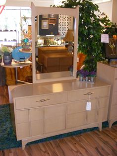 Blond Bombshell Low Dresser With Mirror By Kroehler U2014 At Retro Kalamazoo.
