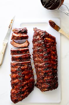 Sticky BBQ Ribs - Simply Delicious Diner Recipes, Rib Recipes, Grilling Recipes, Smoker Recipes, Bbq Ribs In Oven, Ribs Seasoning, How To Make Bbq, Homemade Barbecue Sauce, Smoked Beef Brisket