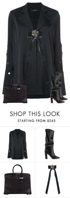 """""""Untitled #2090"""" by iammelissa ❤ liked on Polyvore featuring E L L E R Y, Gianvito Rossi, Hermès and Chanel"""