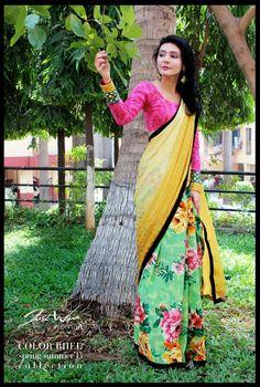 #saree floral