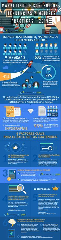 Marketing de contenidos 2015: tendencias y mejores prácticas. Infografía en español. #CommunityManager