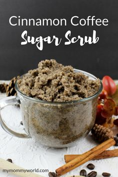 Make up a batch of this easy DIY cinnamon coffee sugar scrub to pamper yourself or your friends. This homemade recipe uses coconut oil for its moisturizing properties, and the cinnamon helps to sooth any inflammation. Makes a great gift idea for Christmas or birthdays or even as a teacher gift!