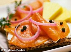 Looking for a quick healthy breakfast? Try smoked salmon on a piece of toast with a bit of cream cheese!