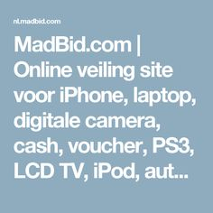 MadBid.com | Online veiling site voor iPhone, laptop, digitale camera, cash, voucher, PS3, LCD TV, iPod, auto, pay-to-bid