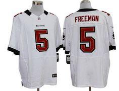 Nike Buccaneers #5 Josh Freeman White Mens NFL Elite Jersey
