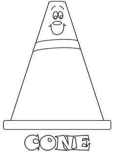 Printable Cone Construction Coloring Pages Book For Kids Of All Ages