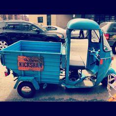 "@rhondalin100's photo: ""I miss the auto rickshaw in India, seriously. #queenskickshaw #brunch #astoria #queens #tuktuk"""
