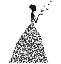 on VectorStock® Silhouette Silhouette Portrait, Silhouette Art, Silhouette Projects, Woman Silhouette, Dress Silhouette, Lettering Styles, Digi Stamps, Vector Art, Paper Art