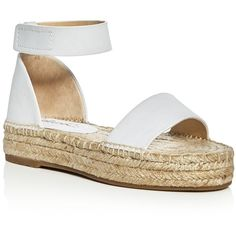 Splendid Jensen Ankle Strap Espadrille Sandals (5,400 DOP) ❤ liked on Polyvore featuring shoes, sandals, white, splendid shoes, ankle wrap espadrille, ankle strap sandals, ankle strap shoes and white ankle strap shoes