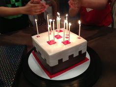 MineCraft Cake- going to attempt to make this for jesse's birthday.
