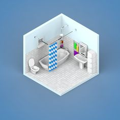 Low Poly Rooms on Behance