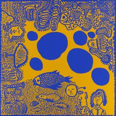 Kusama my eternal soul: Yayoi Kusama, Blue Polka Dots, 2010 Yayoi Kusama is a Japanese artist and writer. Throughout her career she has worked in a wide variety of media, including painting, collage, soft sculpture, performance art, and environmental installations