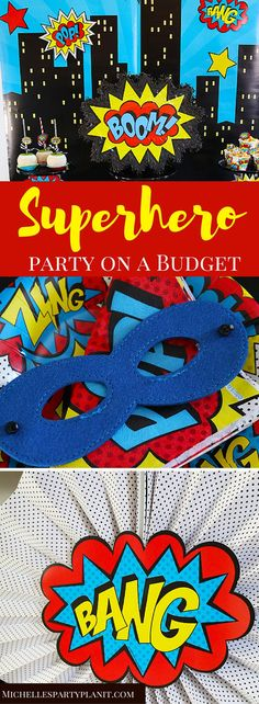 Looking for a fun party theme that won't break the bank? This budget friendly Superhero Party is perfect for any birthday celebration! #HobbyLobbyFinds AD @hobbylobby