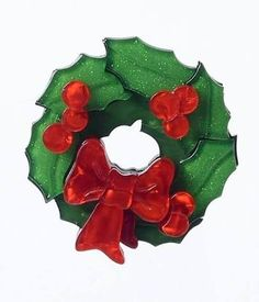 Deck The Halls Resin Christmas Wreath Brooch Pin Diy Projects Easter, Valentines Day Date, Christmas Wreaths, Christmas Ornaments, Deck The Halls, Perfect Party, Unique Vintage, Spice Things Up, Brooch Pin