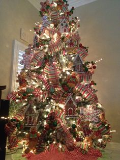 gingerbread christmas tree exquisite professional christmas decor by nicholas christmas
