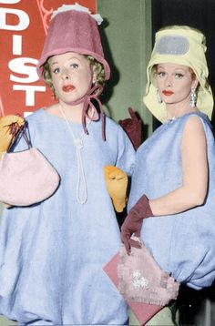 Lucy & Ethel showing the Parisian fashion models how to strut their stuff - 'I Love Lucy' episode-Lucille Ball and Vivian Vance I Love Lucy Show, My Love, Lucy Fashion, Lucy And Ricky, Lucy Lucy, Vivian Vance, Lucille Ball Desi Arnaz, Photo Vintage, Vintage Style