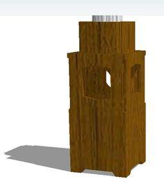 """Papelera con cenicero del estilo """"NOA"""" construida en madera maciza, para exteriores. Dimensiones exteriores: 40 cm x 40 cm x 100 cm (h). Tratamiento antihumedad por autoclave. Terminación superficial laca sintética semimate o tintado para exterior. Resistente a intemperie. Formato exterior estilo """"NOA"""" en una sola pieza (o conformada) de 2' de espesor. Dimensiones: 40cm x 40 cm y 80cm de alto. Porta cenicero en madera de tablero fenólico/marino con orificio para cenicero de acero inoxidable."""