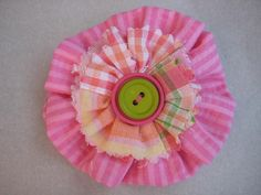 Shabby Chic Hair Bows made from Pink Fabric Layered by TooTooKute, $7.99