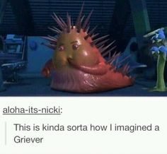 This was always what I pictured a griever to look like but green and having more weapons and such sticking out of it