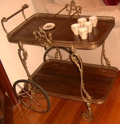 Image detail for -... El Baúl de Anna~~~: Antigua Mesa Camarera / Antique Serving Tea Cart